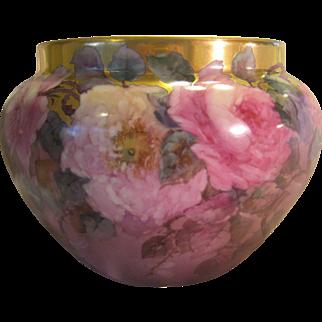 Breathtaking Antique Limoges France Jardiniere Planter ~ RARE ONE-OF-A-KIND ~ Creme de la Creme Fine Art Handpainted Roses