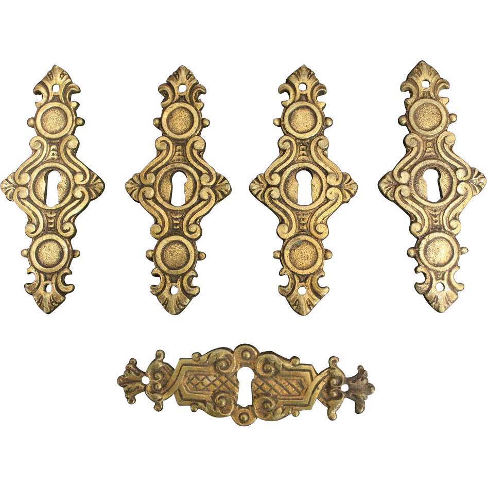 Bronze decorative keyholes from Belgium