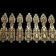 Bronze 'Lecherf' door plate set