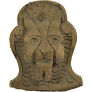 Carved wooden decorative lion