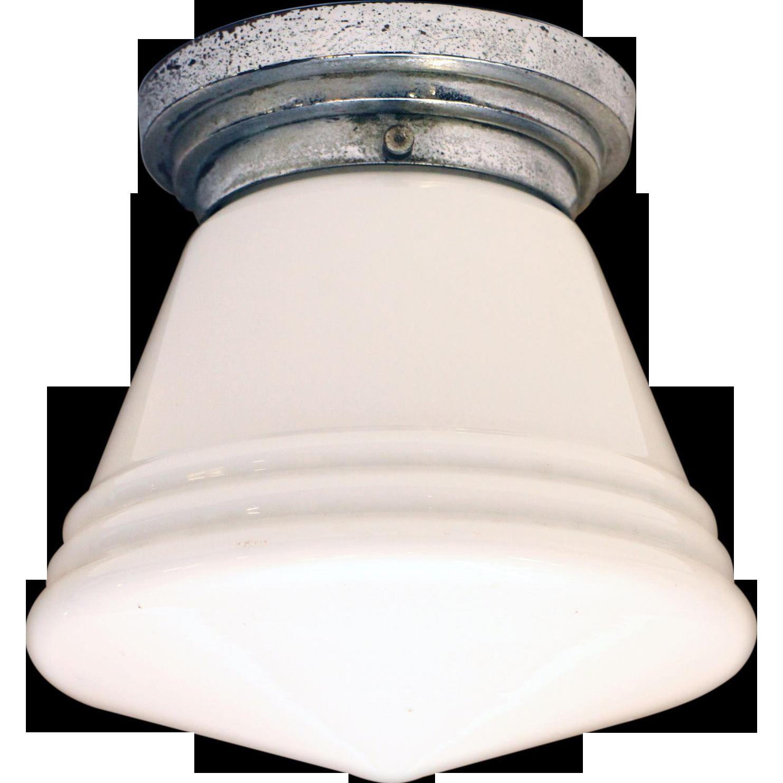 Opaline ceiling light fixture