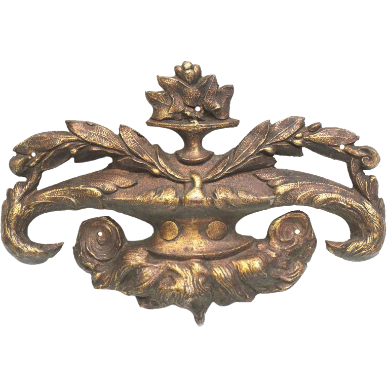 Ornate bronze applique