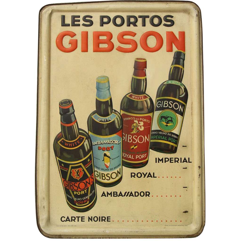 Vintage imported European liquore sign from 'Gibson'
