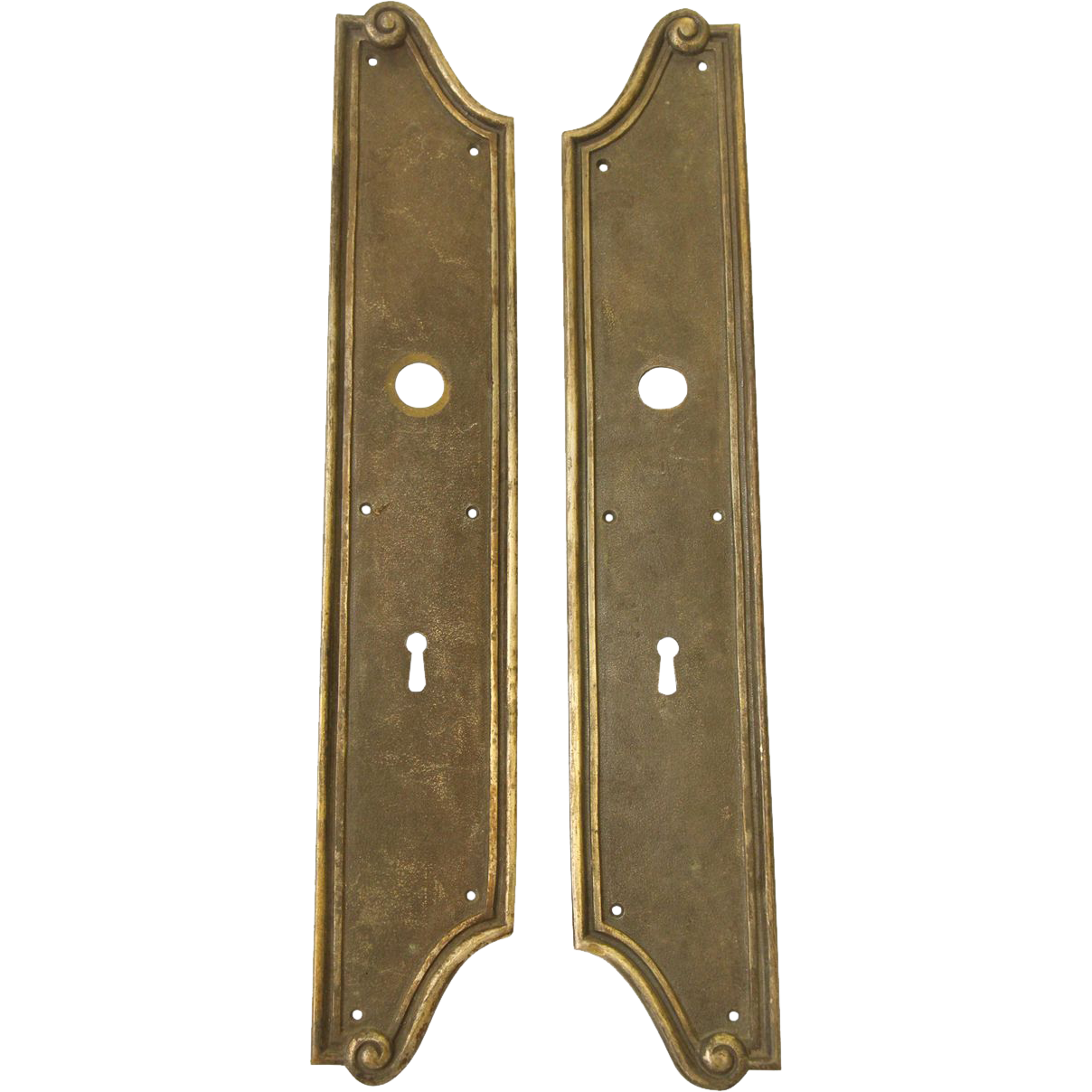 Oversized pair of vintage back plates