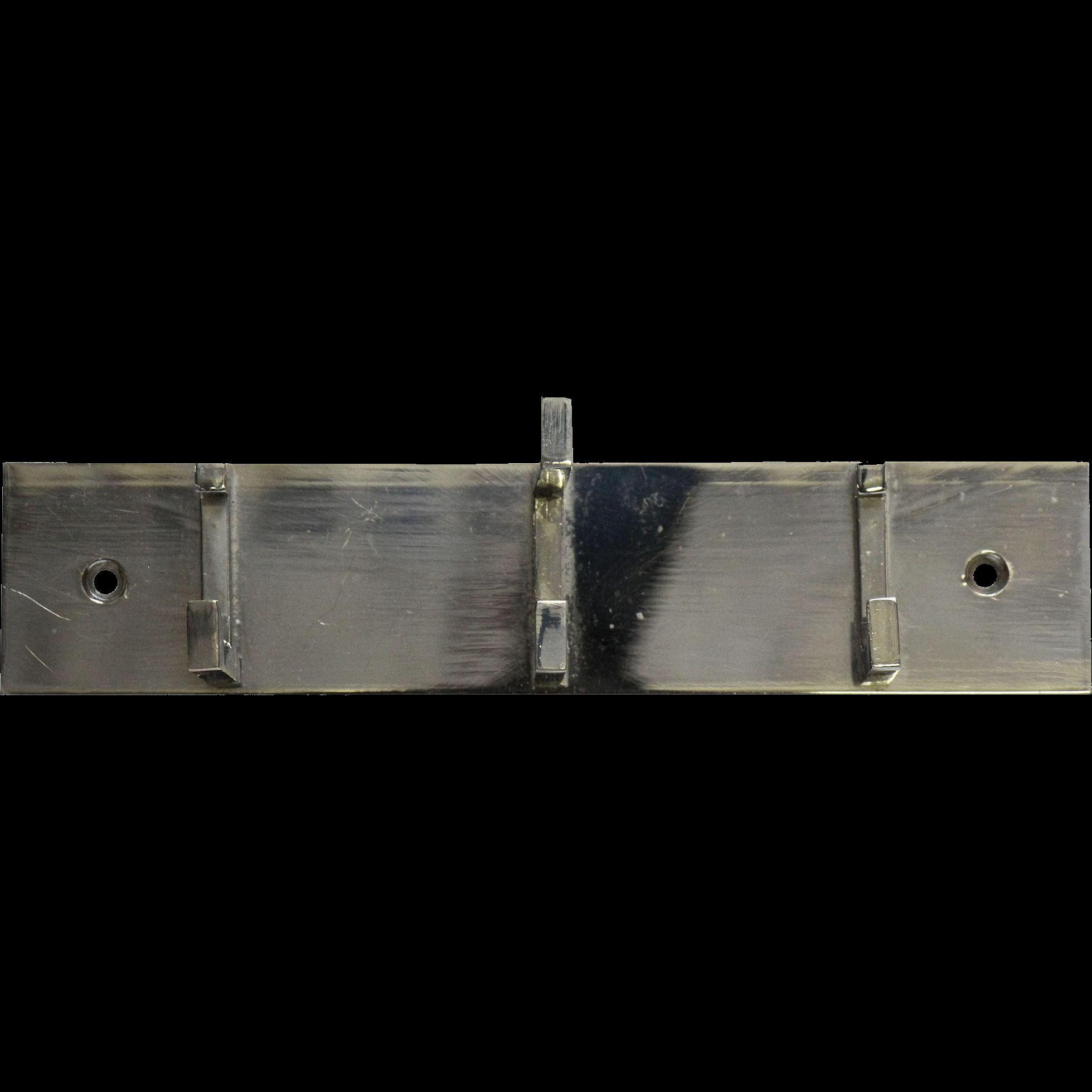 Art Deco chrome hook vintage rack