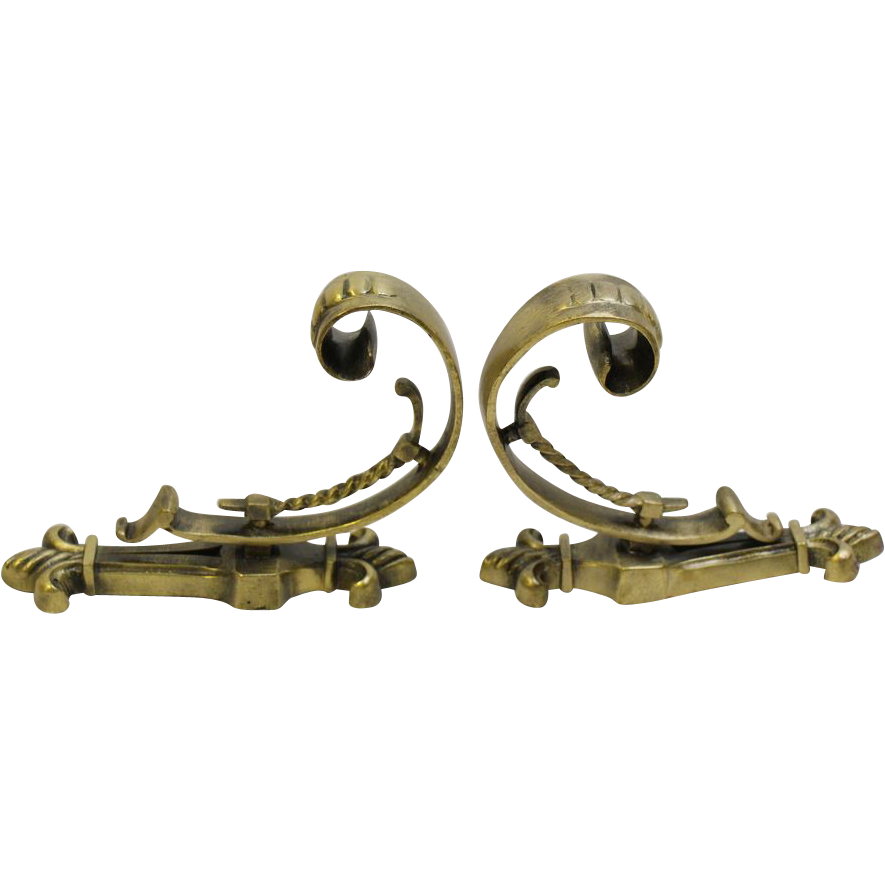 Pair of European curtain tiebacks