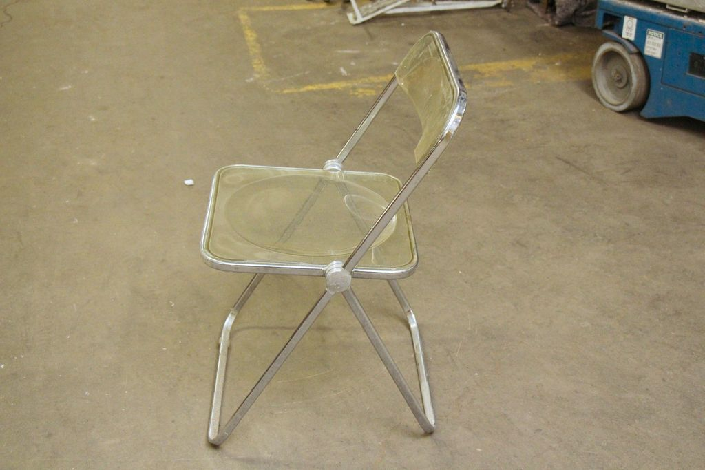 1970 s Clear plastic folding chairs from oldegoodthings on Ruby Lane