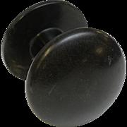 Round black Bakelite hooks
