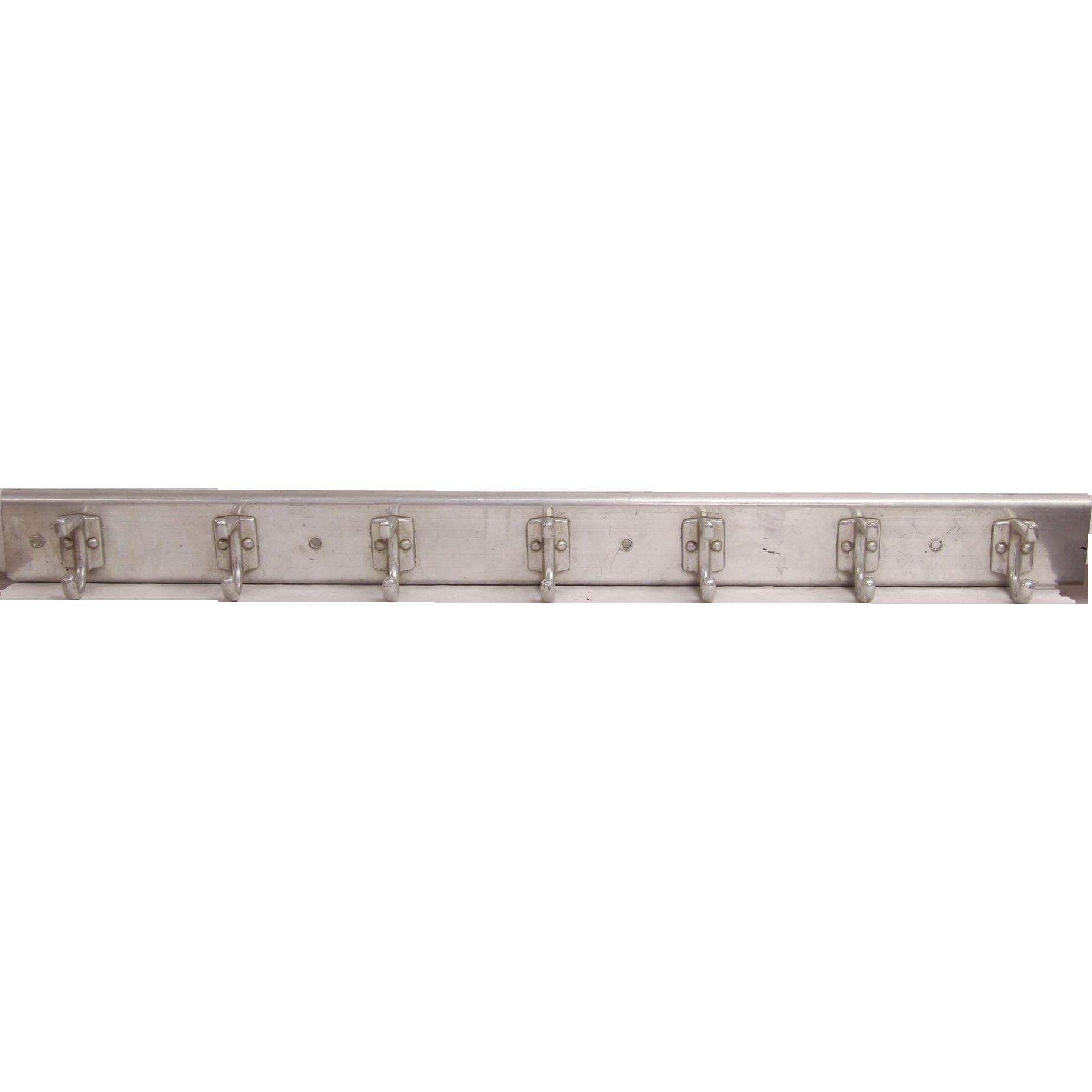 Mid century aluminum wall rack