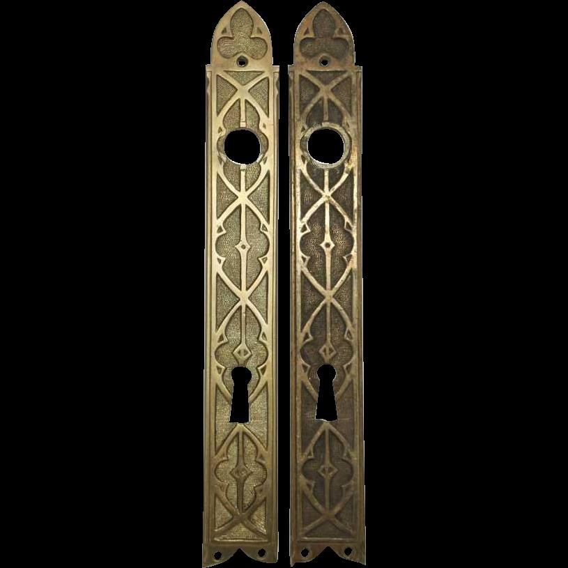 Gothic door plate set