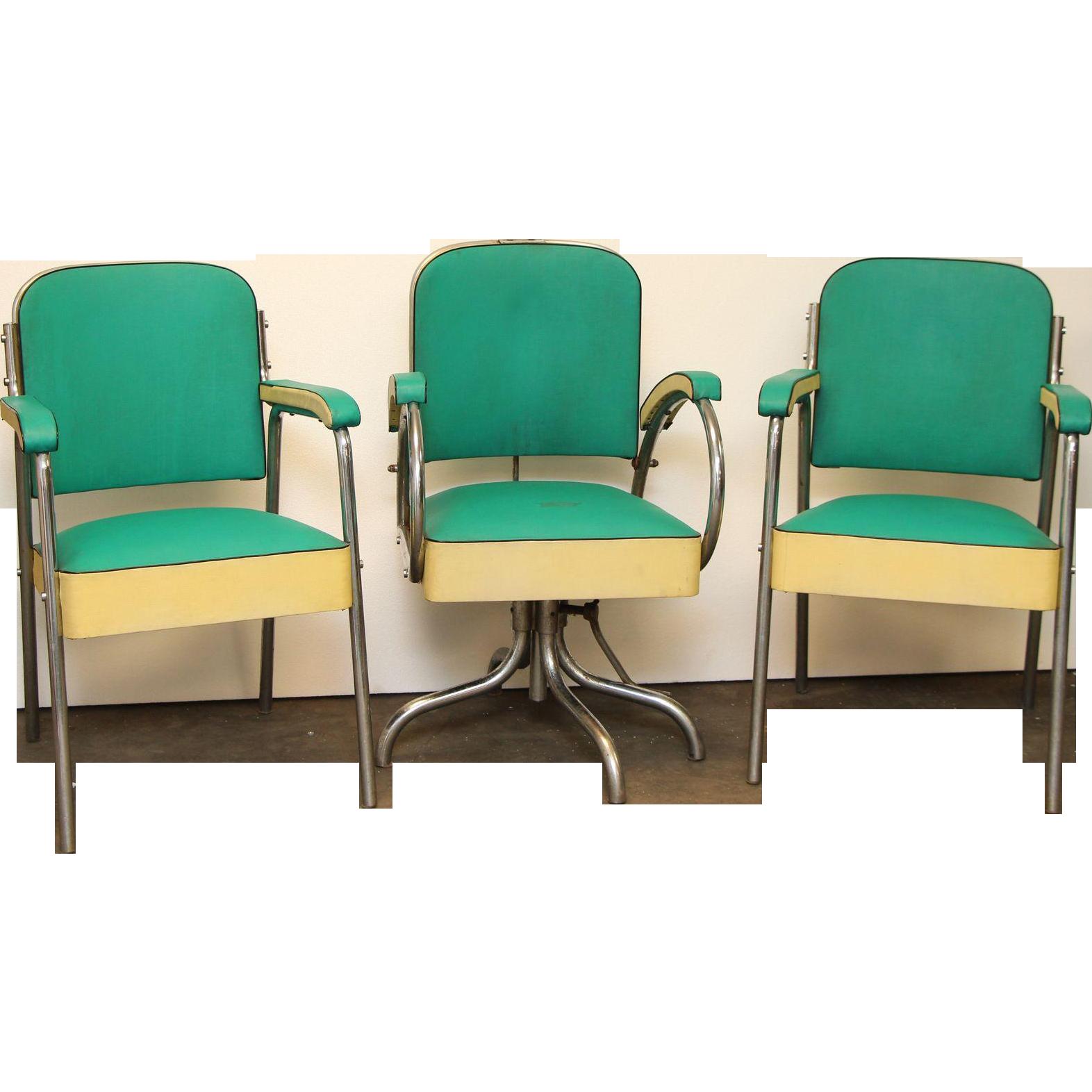 Vintage teal hair salon chair