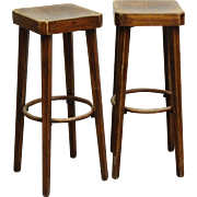 Pair of Wooden Hutton Signed Stools