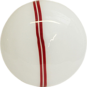 Murano Globe with Two Red Stripes