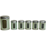 Six Piece Green Kitchen Pot Set