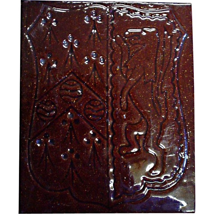 Unique Maw & Co. brown glazed tile