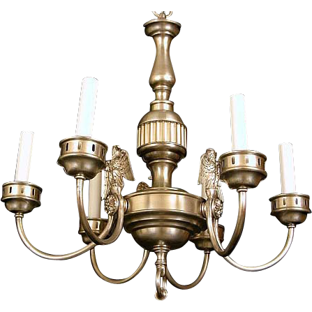 Sterling Bronze Company of New York Federal style chandelier