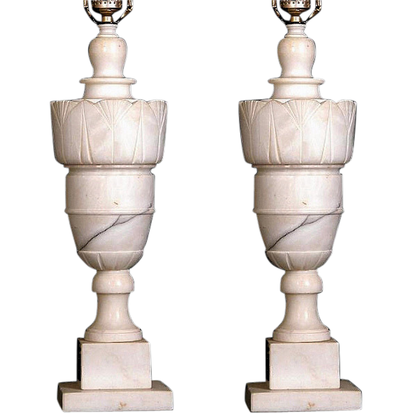 French alabaster table lamps