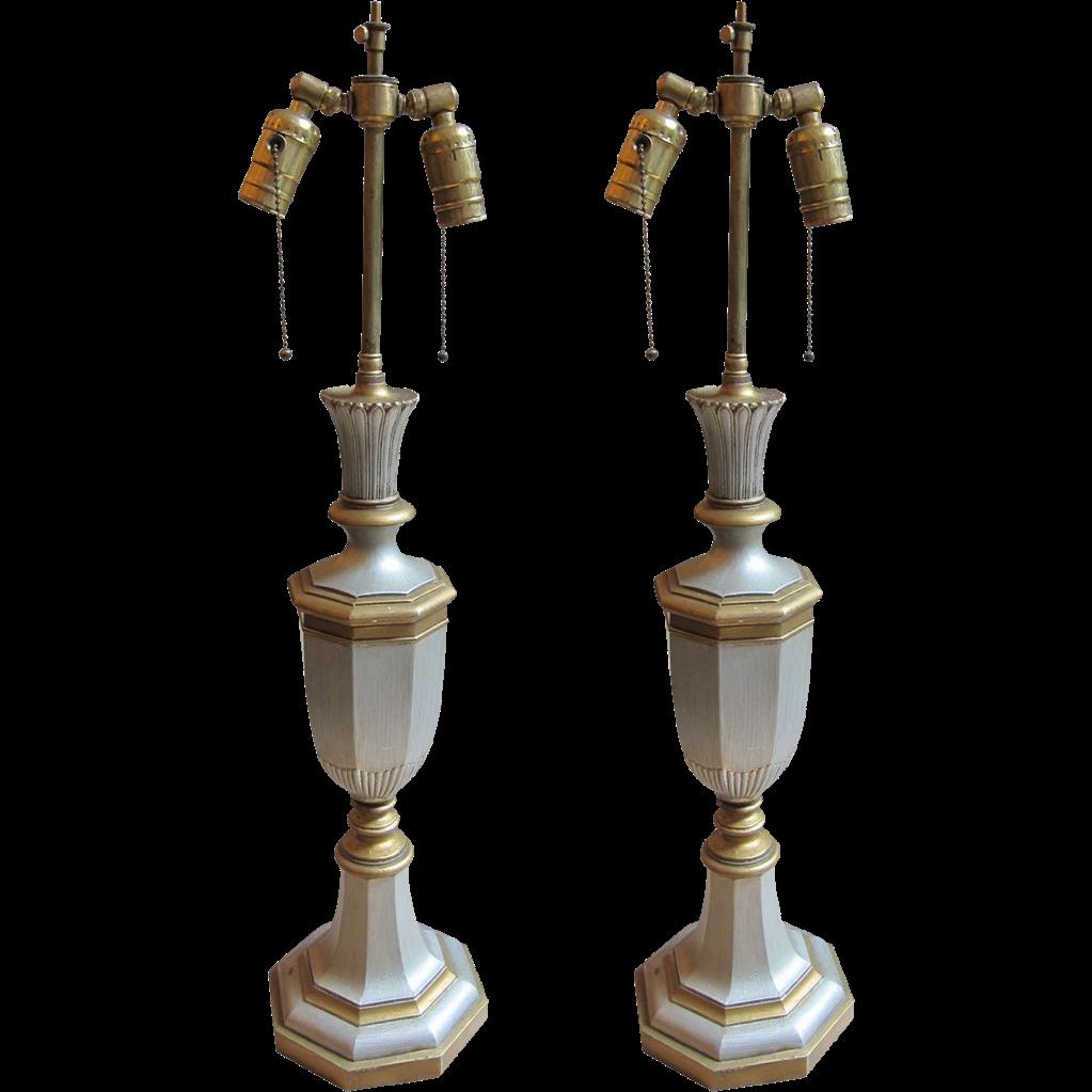 Pair of English made Georgian bronze lamps