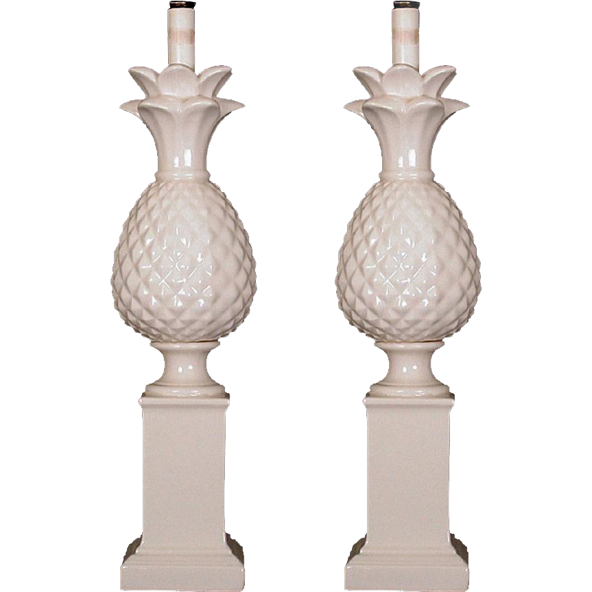 Pair of French made porcelain lamps