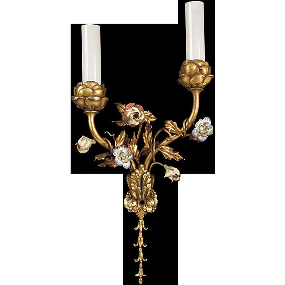Louis XV style bronze sconce