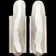 Pair of Murano glass Modern sconces