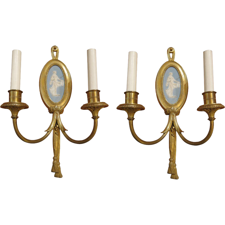 Pair of Sterling Bronze Company sconces