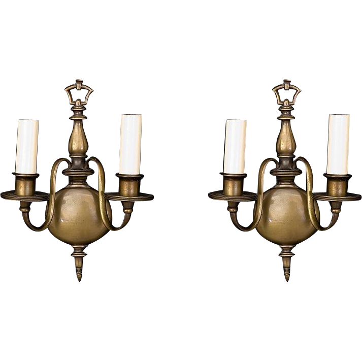 Pair of American made bronze sconces