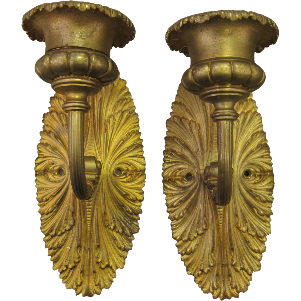 Empire style bronze sconces
