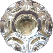 Punted style single glass knob with iron shank