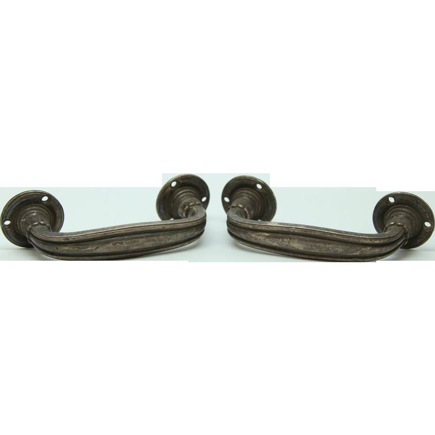Bronze handles with nickel finish