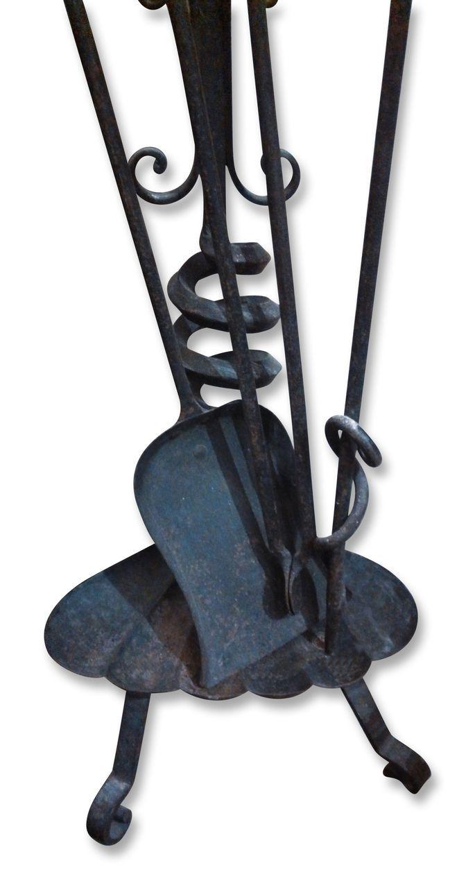 bradley u0026 hubbard wrought iron dragon fireplace tool set from