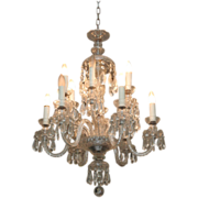 Beautiful turn of the century crystal chandelier with 12 lights