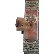 Ornate Bronze Entry Doorknob Set