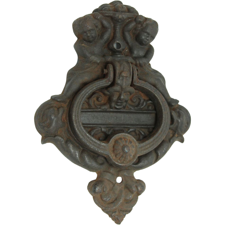 Cast iron figural door knocker