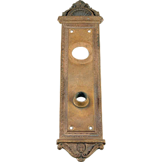 Brass Decorative Victorian Back Plate