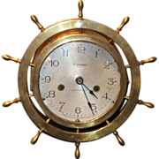 Waterbury solid brass ship clock