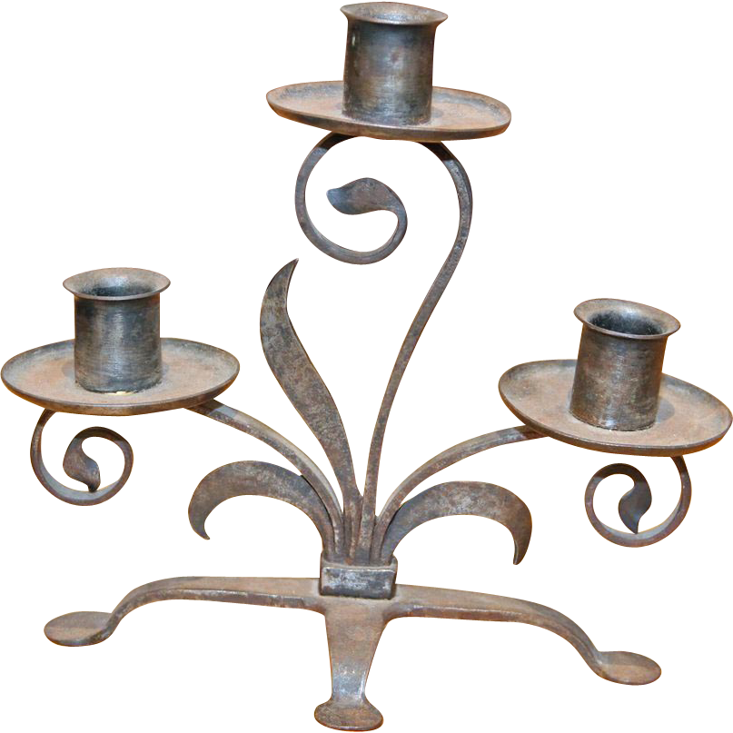 Hand forged candlestick holders