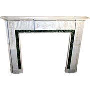 Petite English Georgian style marble mantel