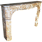 Early 18th century Louis XV rouge royale French marble mantel