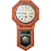 Vintage Regulator wall mount clock