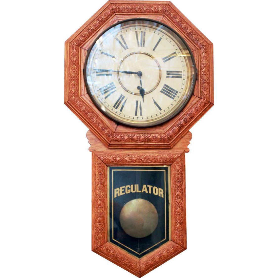 Vintage Regulator wall mount clock
