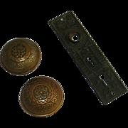 Solid cast bronze Windsor door knob set