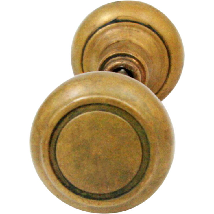 Hollow brass centrical knob set
