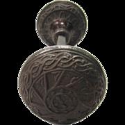 Gothic cast iron doorknob set