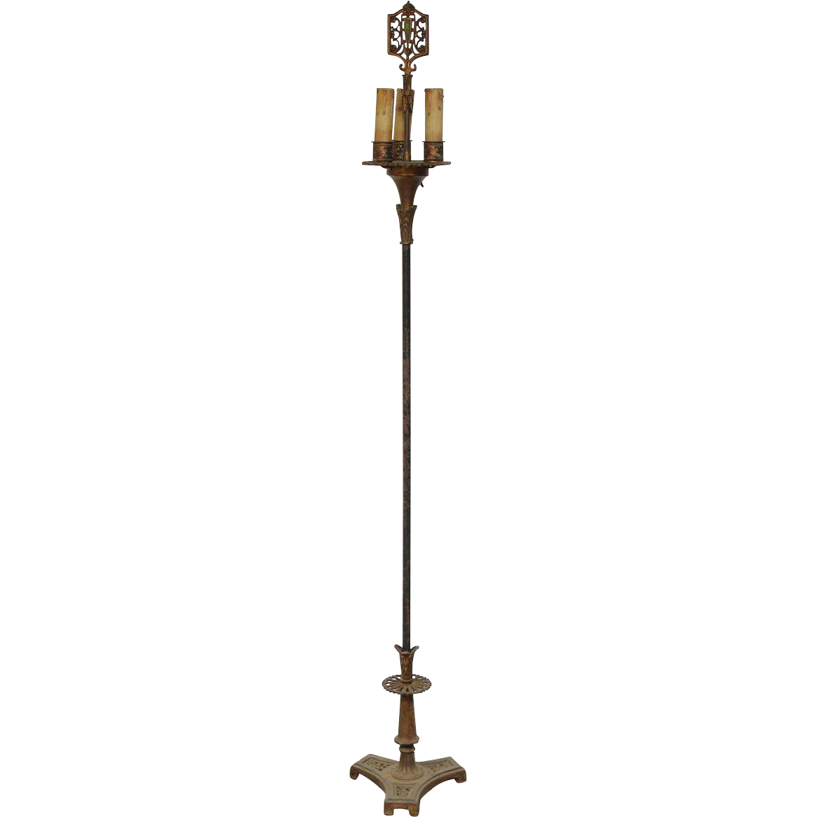 Ornate Victorian candlestick floor lamp