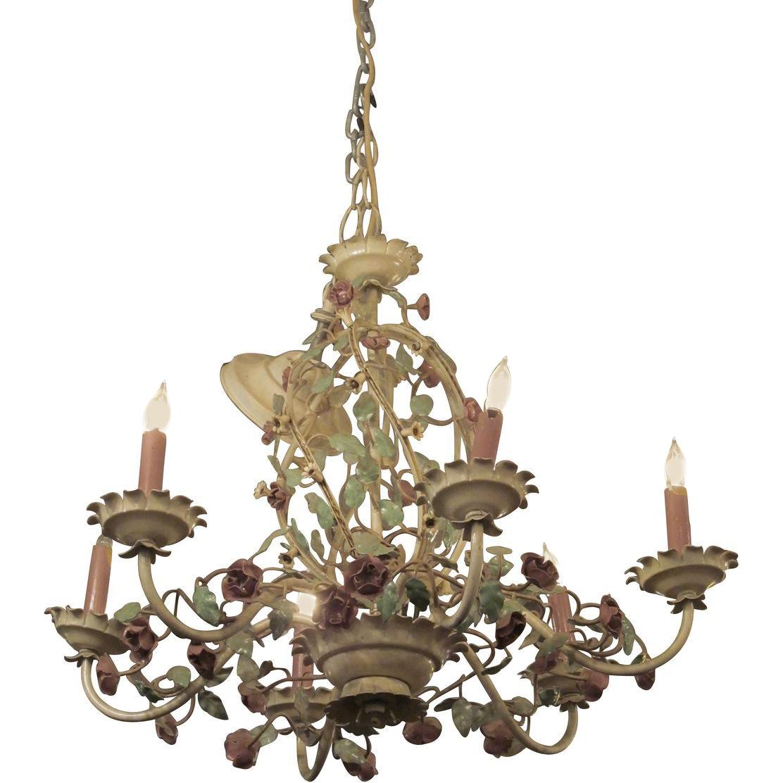 Mid century rose chandelier