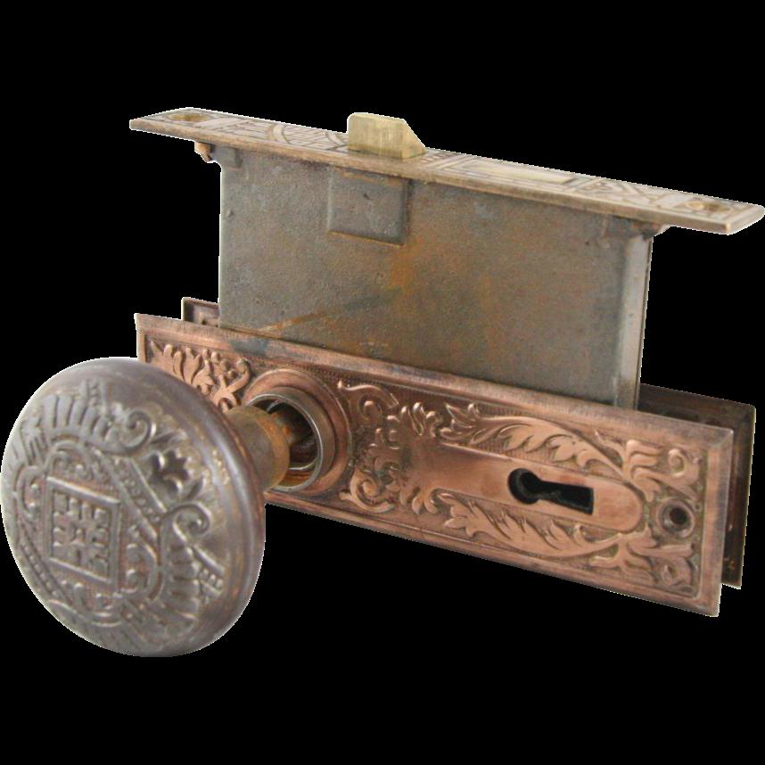 Canton bronze doorknob set