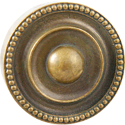 Cast bronze concentric circle doorknob set