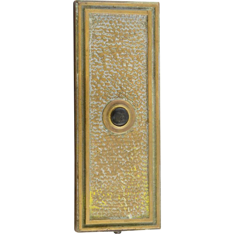 Vintage textured bronze elevator button plate