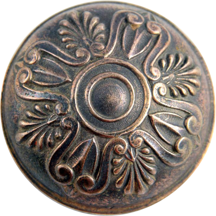 Greek bronze doorknob with rosette